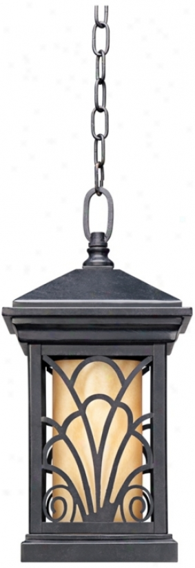 "Garden Gate Collection 16 1/2"" High Outdoor Hanging Light (p5516)"