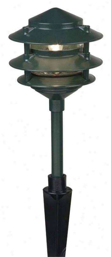 Garden Green Pagoda Style Lamscape Light (68712)