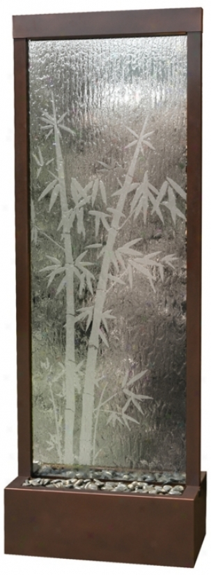 "Gardenfll Bamboo Glass 72"" High Indoor/outroor Fountain (f8987)"