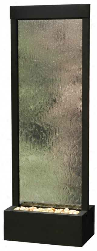 Gardenfall Black Onyx Anc Glass Indoor/outdoor Fountain (f897)