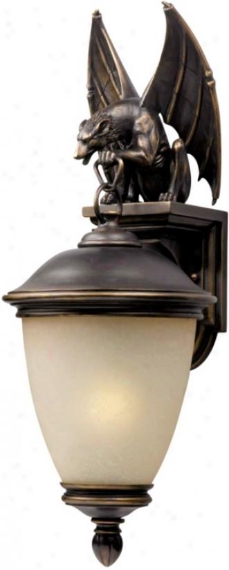 "Gargoyle Energy Efficient 33"" High Outdoor Wall Light (13840)"