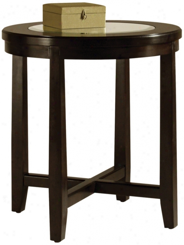 Gaston Collection Round End Table (j9487)