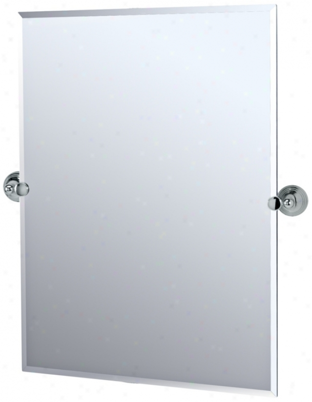 "Gatco Charlotte Chrome 31 1/2"" High Rectangle Wall Mirror (p53442)"