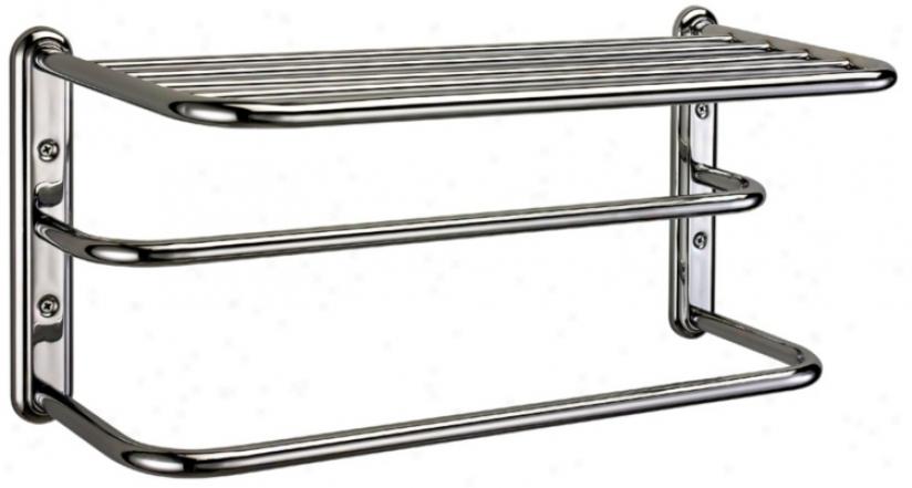 "Gatco Chrome 20"" Wide Spa 2-bar Towei Rack (u6256)"
