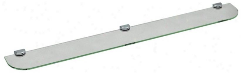 "Gatco Hotel Vogue Chrome 48"" Wide Glass Wall Shelf (u6521)"