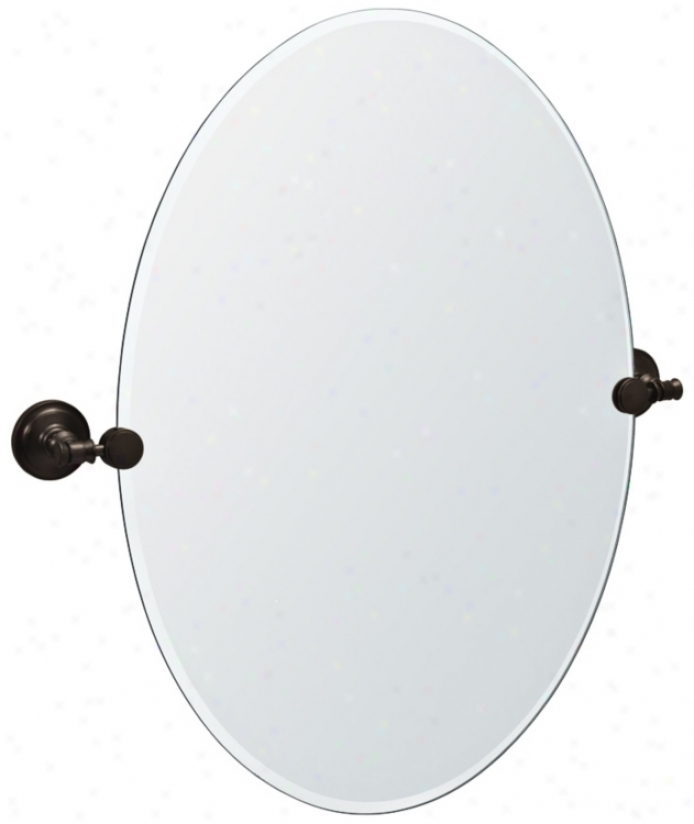 "Gatco Irvine Bronze Finish 26 1/2"" High Tilt Wall Mirror (p8040)"
