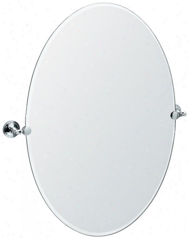 "Gatco Irvine Chromee Finish Oval 32"" High Tilt Wall Reflector (p8041)"