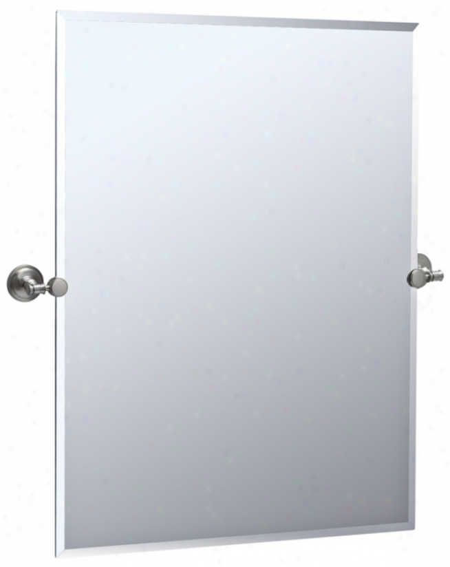 "Gatco Irvine Satin Nickel 31 1/2"" High Tilt Wall Mirror (p8045)"