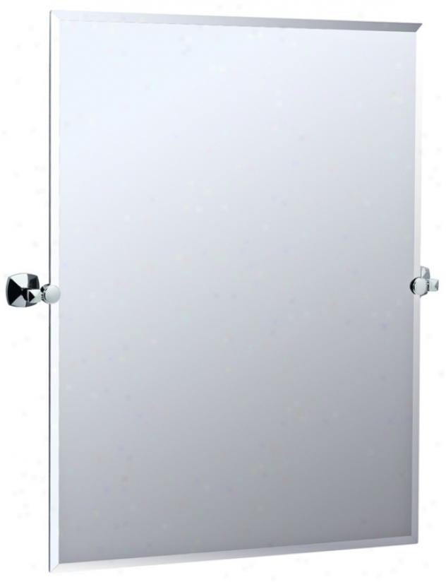 "Gatco Jewel Chrome Finish 31 1/2"" High Tilt Wall Mirror (p8110)"
