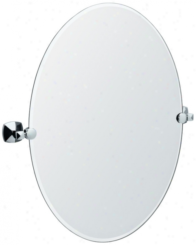 "Garco Jewel Chrome End Oval 26 1/2"" High Tilt Wall Reflector (p8192)"