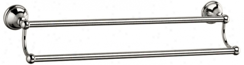 "Gatco Laurel Avenue Polished Nickel 24"" Double Towel Bar (u6211)"