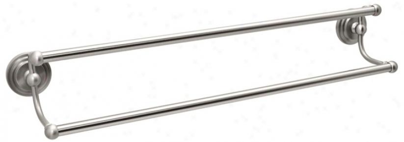 "Gatco Marina 24"" Wide Satin Nickel  Double Towel Bar (u6482)"