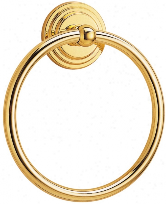 "Gatco Marina 7 3/4"" High Solid Brass Towel Ring (u65510)"