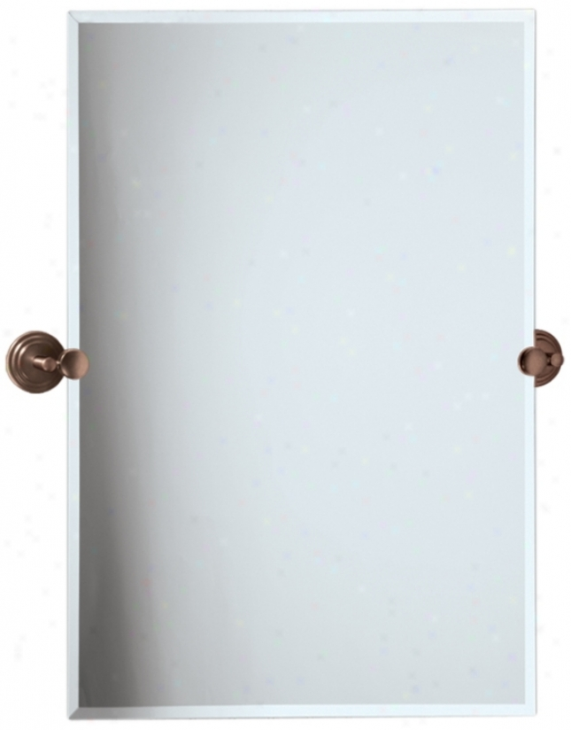 "Gatco Marina Bronze Finish 31 1/2"" High Wall Mirror (p7947)"
