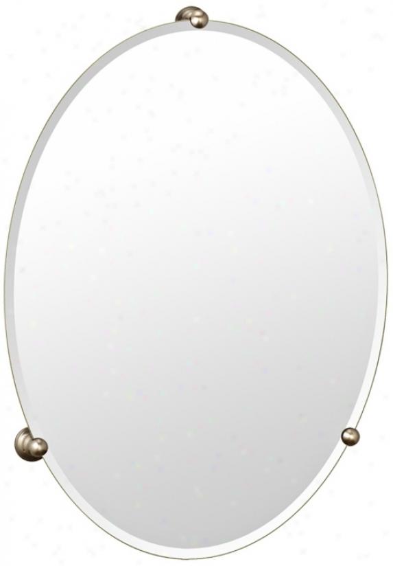 Gatco Oldenburg Satin Nickel Finish Ova1 Wall Mirror (p6590)