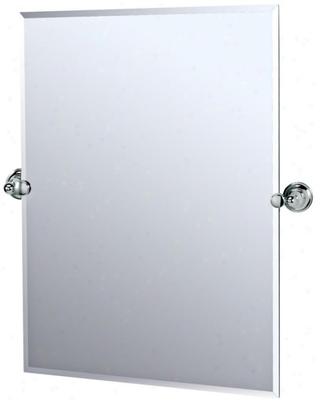 """Gatco Polisged Chrome Tiara 31 1/2"""" High Tilt Wall Mirror (p5327)"""