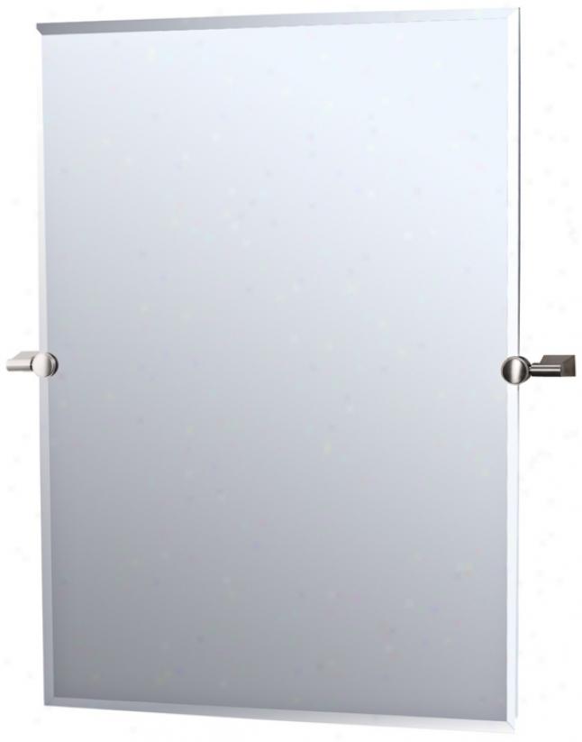 "Gatco Satin Nickel Bleu 32"" High Tilting Wall Mirror (r2388)"