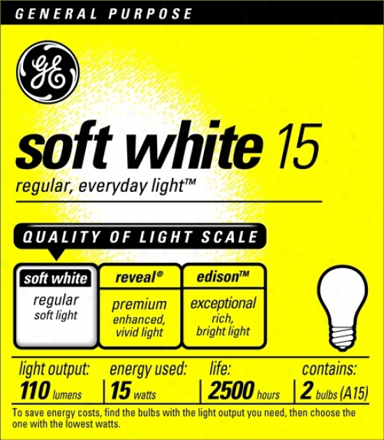 Ge 15 Watt 2-pack Soft White Light Bulbs (90001)