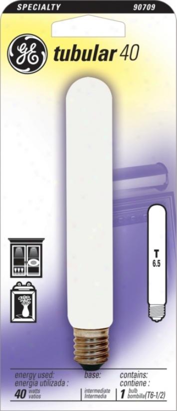 Ge 40 Watt Intermediate Base Tube Light Bulb (90709)