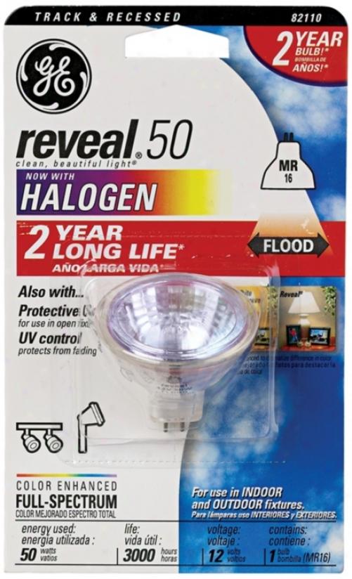 Ge Reveal 50mr Halogen Light Bulb (34516)