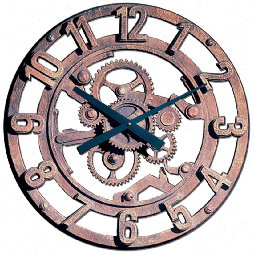 "Gears Of Time 22"" Wide Battery Powered Wall Clock (m0277)"