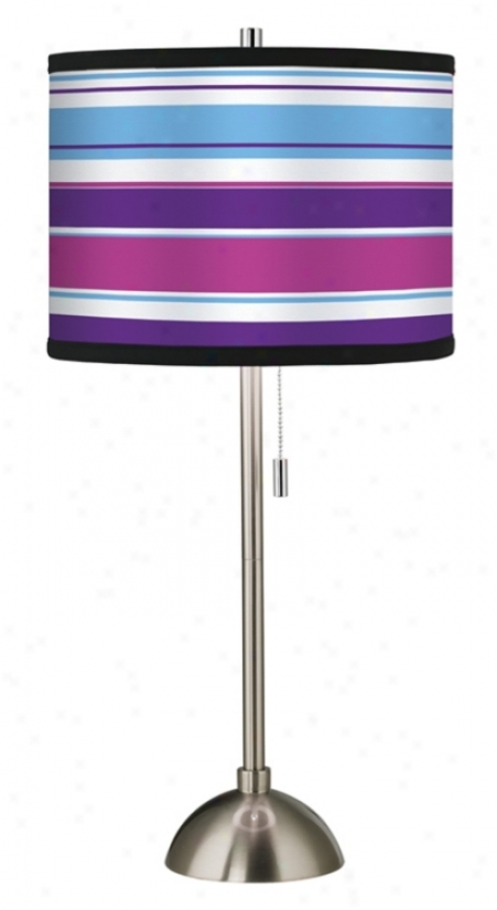 Giclee Beach Towel Pattern Shade Table Lamp (60757-99589)