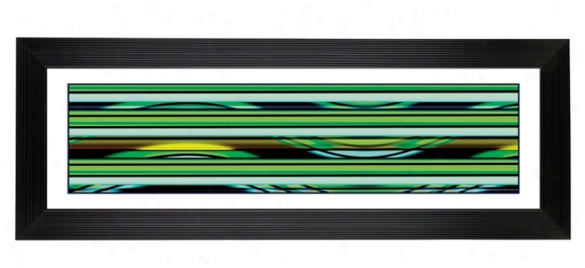 "Giclee Blue Neon 52 1/8"" Wide Wall Art (14890-80277)"