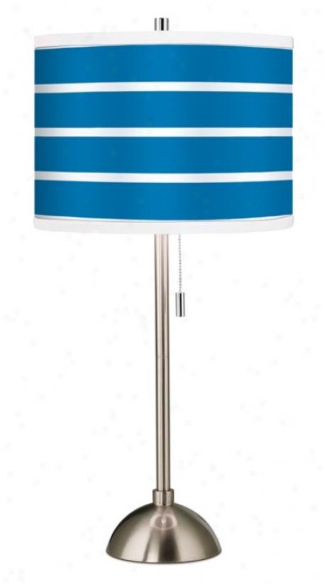 Giclee Bold Blue Stripe Table Lamp (60757-23106)