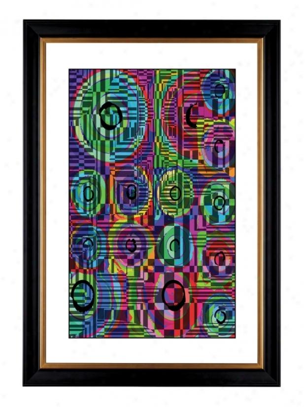 """Giclee Circle Noise Ii 41 3/8"""" High Wall Art (17736-80384)"""