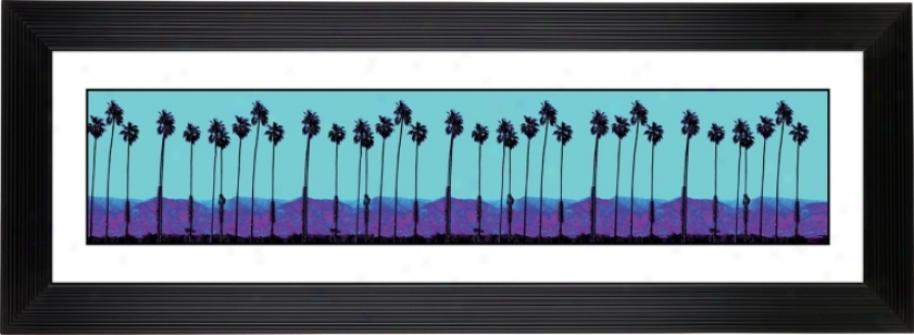 "Giclee Palm Tree Haze Stepped Strip 52 1/8"" Wide Wall Art (f2044-80277)"
