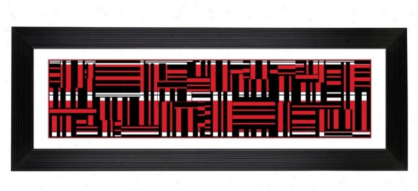 "Gicee Red Wave 52 1/8"" Wide Wall Art (14812-80277)"