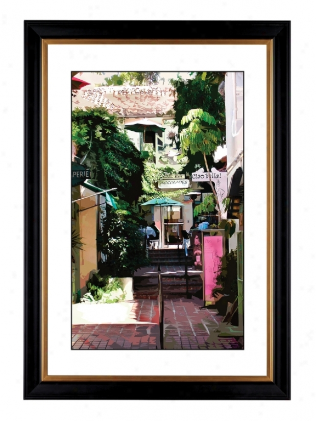 "Giclee Sidewalk Cafe 41 3/8"" High Wall Art (18235-80384)"