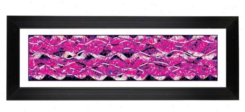 """Gicle eTaffy Pattern Black Frame 52 1/8"""" Wide Wall Art (14830-80277)"""