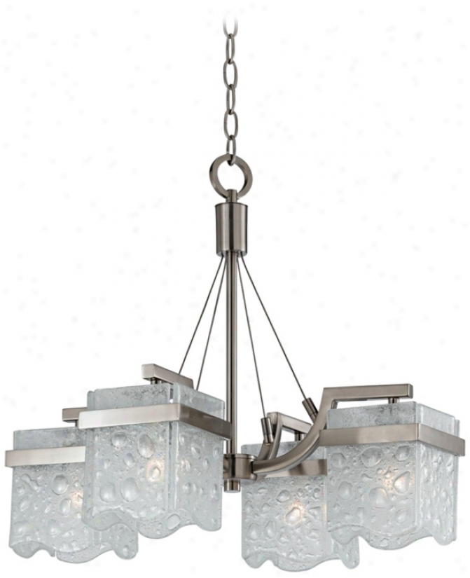 """Ice-torrent Collection 21"""" Wide Chandelier (i1470)"""
