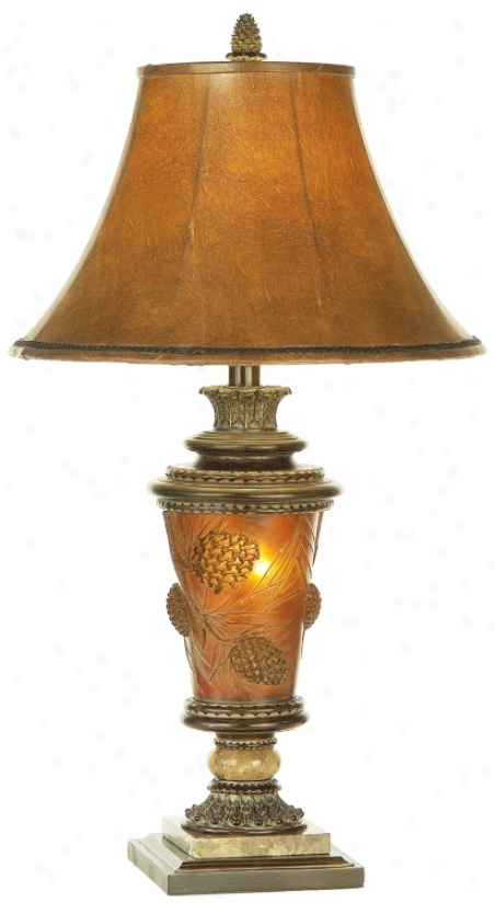 Ice-torrent Mountain Pinecone Glow Night Light Table Lamp (61973)