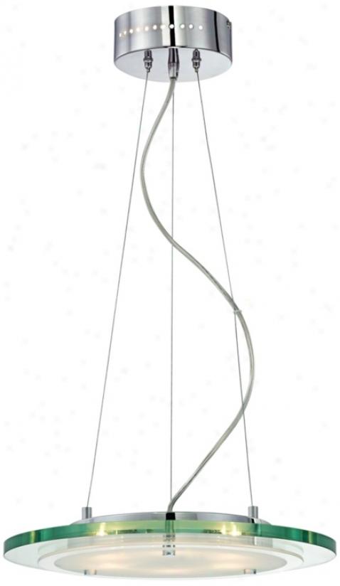"""Glass Sphere 15 3/4"""" Wide Ear-ring Chandelier (r0773)"""