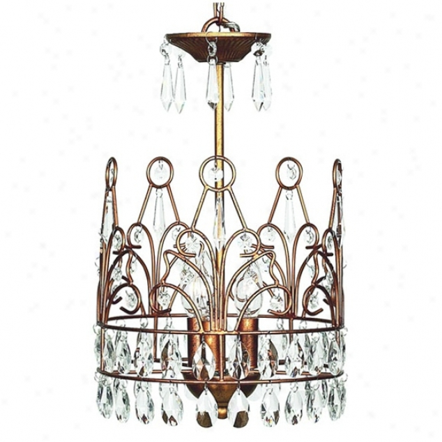 Gold Crown 3-light Chandelier (t2099)