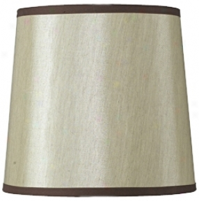 Gold Hardback Fabric Drum Shade 12x14.5x13.5 (spider) (90261)