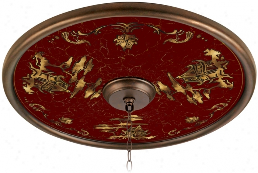 "Gold Pagoda 24"" Wide Bronze Finish Ceiling Medallion (02777-u3762)"
