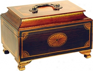Delightful Accents Hand-painted Wood Jewelry Box (h2312)