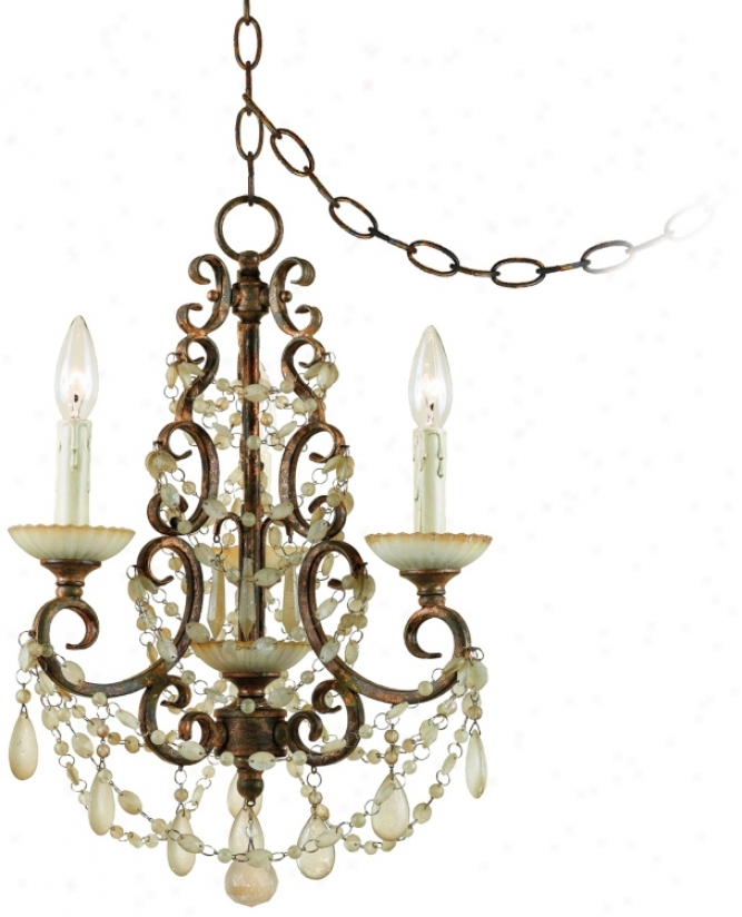 "Golden Palace 14"" Wide 3-light Plug-in Style Swag Chandelier (r3532)"
