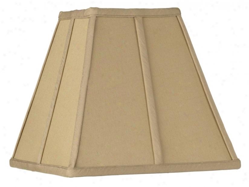 Golden Tan Square Cut Lamp Darkness 5.25x10x9 (spider) (23976)