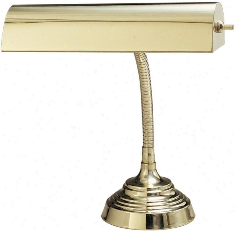 Gooseneck Polished Brass Piao Desk Lamp (31389)