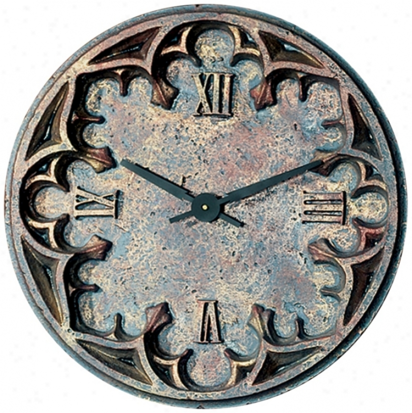 """Gothic 22"""" Wide Battery Powered Wall Clock (m0270)"""
