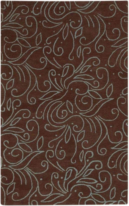 Stately Bronze Brown Handmade Area Rug (511197)