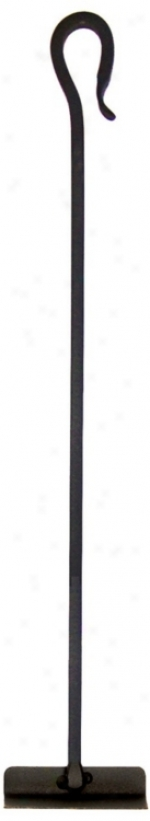 Graphite Shepherd S-hopk Intention Fireplace Hoe Tool (u9583)
