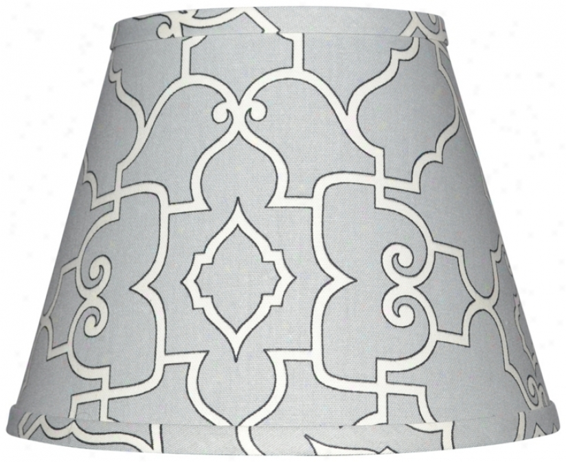 Gray With Cream Architectural Lamp Shade 10x18x13 (spider) (w0231)