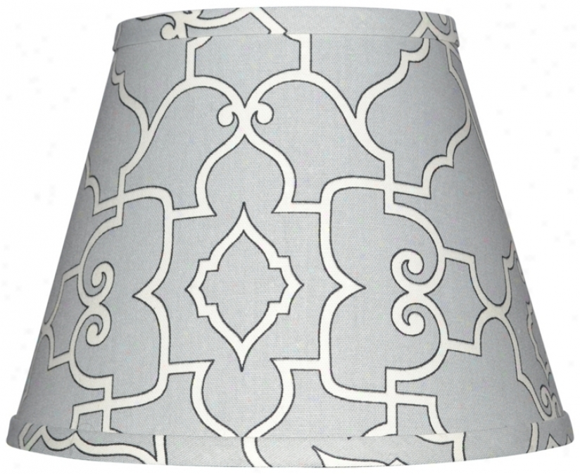 Gray By the side of Cream Architectural Lamp Shade 8x14x10.25 (spider) (w0229)