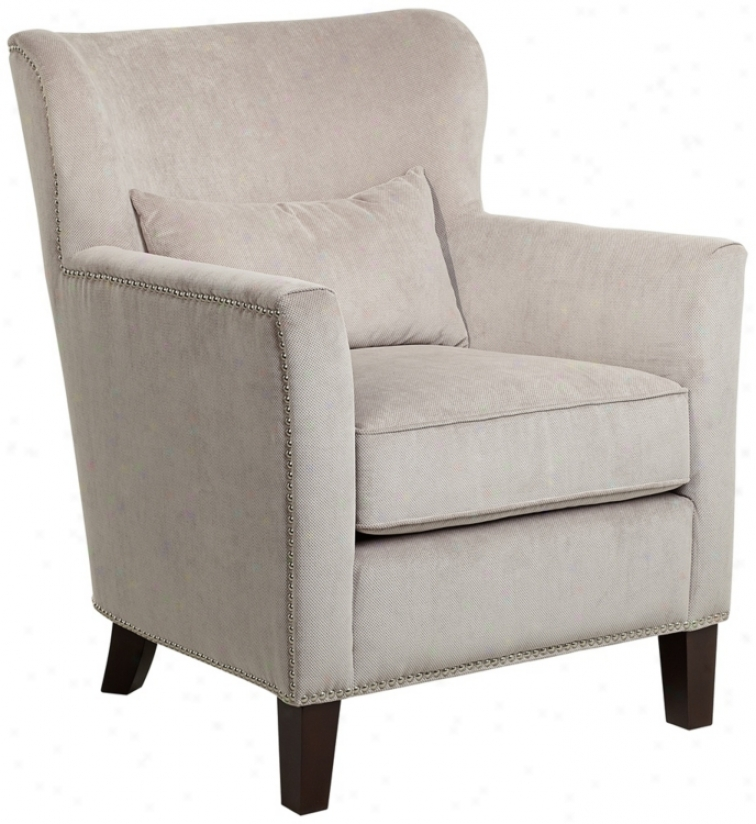 Griffen Taaupe Upholstered Arm Chair (u4610)
