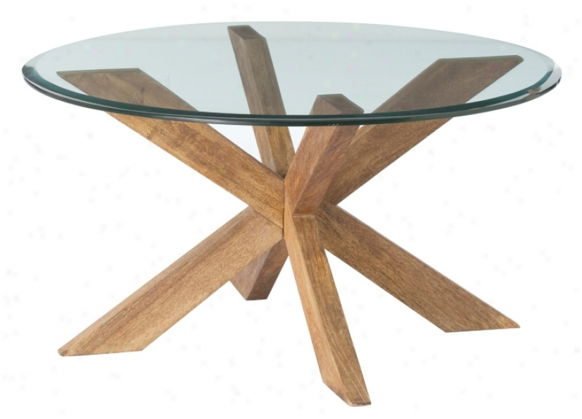 Gwenieve Wood And Glass Cocktail Table (m2223)